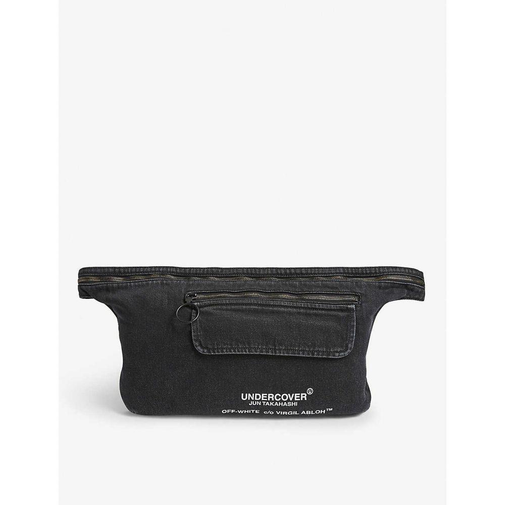 オフホワイト OFF-WHITE C/O VIRGIL ABLOH メンズ ボディバッグ・ウエストポーチ バッグ【Denim Undercover belt bag】BLACK MULTI