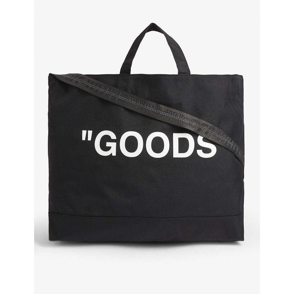 オフホワイト メンズ バッグ トートバッグ 【サイズ交換無料】 オフホワイト OFF-WHITE C/O VIRGIL ABLOH メンズ トートバッグ キャンバストート バッグ【'Goods'' canvas tote bag】BLACK WHITE