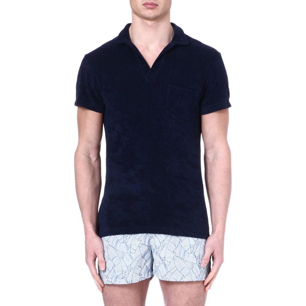 オールバー ブラウン ORLEBAR BROWN メンズ ポロシャツ トップス【Terry cloth cotton polo】Navy