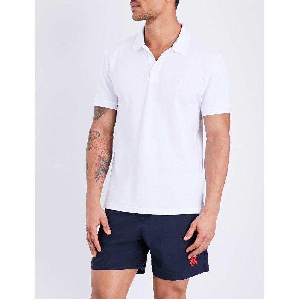 ヴィルブレクイン VILEBREQUIN メンズ ポロシャツ トップス【Palatin cotton-pique polo shirt】White