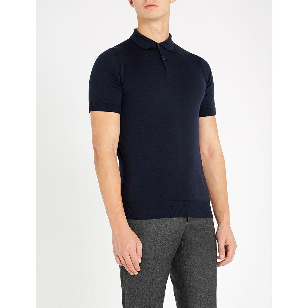 ジョンスメドレー JOHN SMEDLEY メンズ ポロシャツ トップス【Payton wool polo shirt】MIDNIGHT