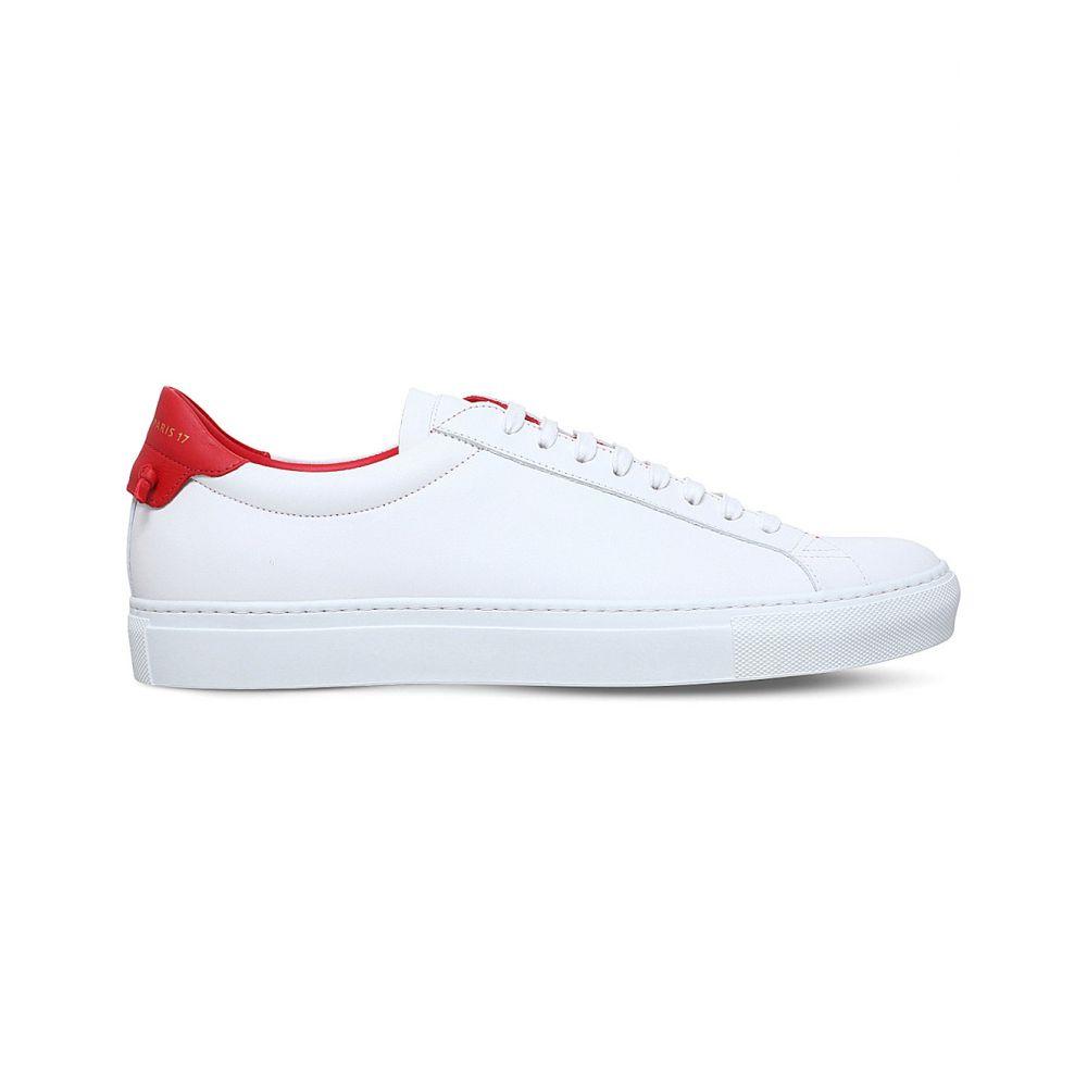 ジバンシー GIVENCHY メンズ スニーカー シューズ・靴【Knot-detail leather trainers】WHITE/RED