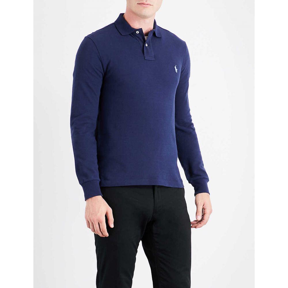 ラルフ ローレン POLO RALPH LAUREN メンズ ポロシャツ トップス【Long-sleeved cotton-pique polo shirt】NEWPORT NVY