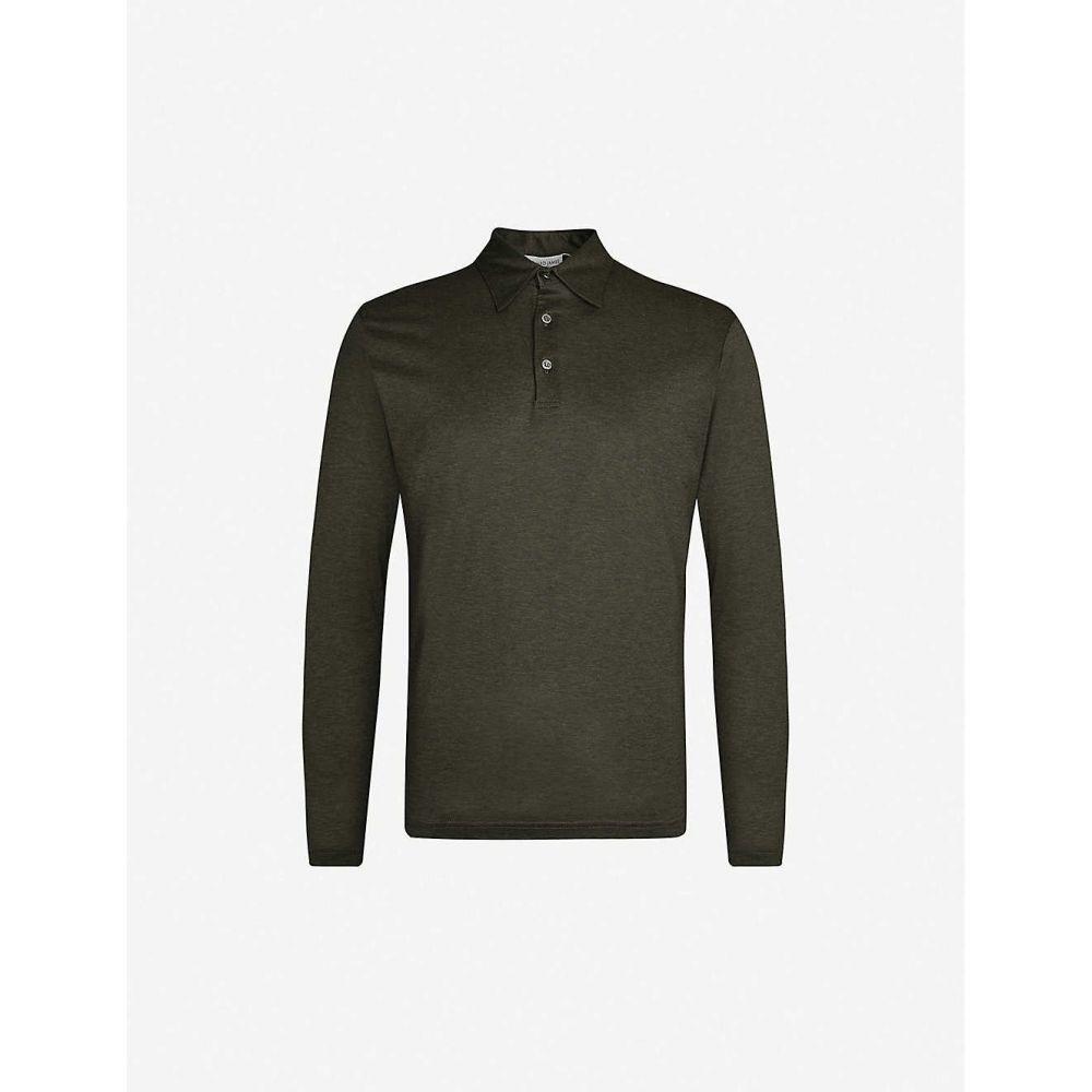 リチャード ジェームス RICHARD JAMES メンズ ポロシャツ トップス【Fitted wool and cotton-blend polo shirt】Juniper