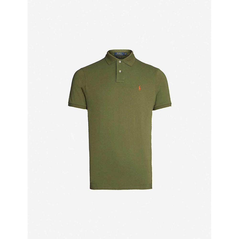 ラルフ ローレン POLO RALPH LAUREN メンズ ポロシャツ トップス【Logo-embroidered custom slim-fit cotton-pique polo shirt】GREEN