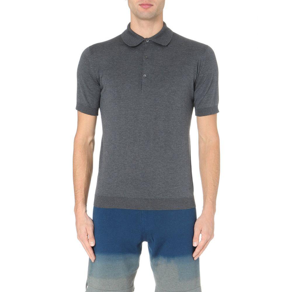 ジョンスメドレー JOHN SMEDLEY メンズ ポロシャツ トップス【Adrian cotton polo shirt】Charcoal