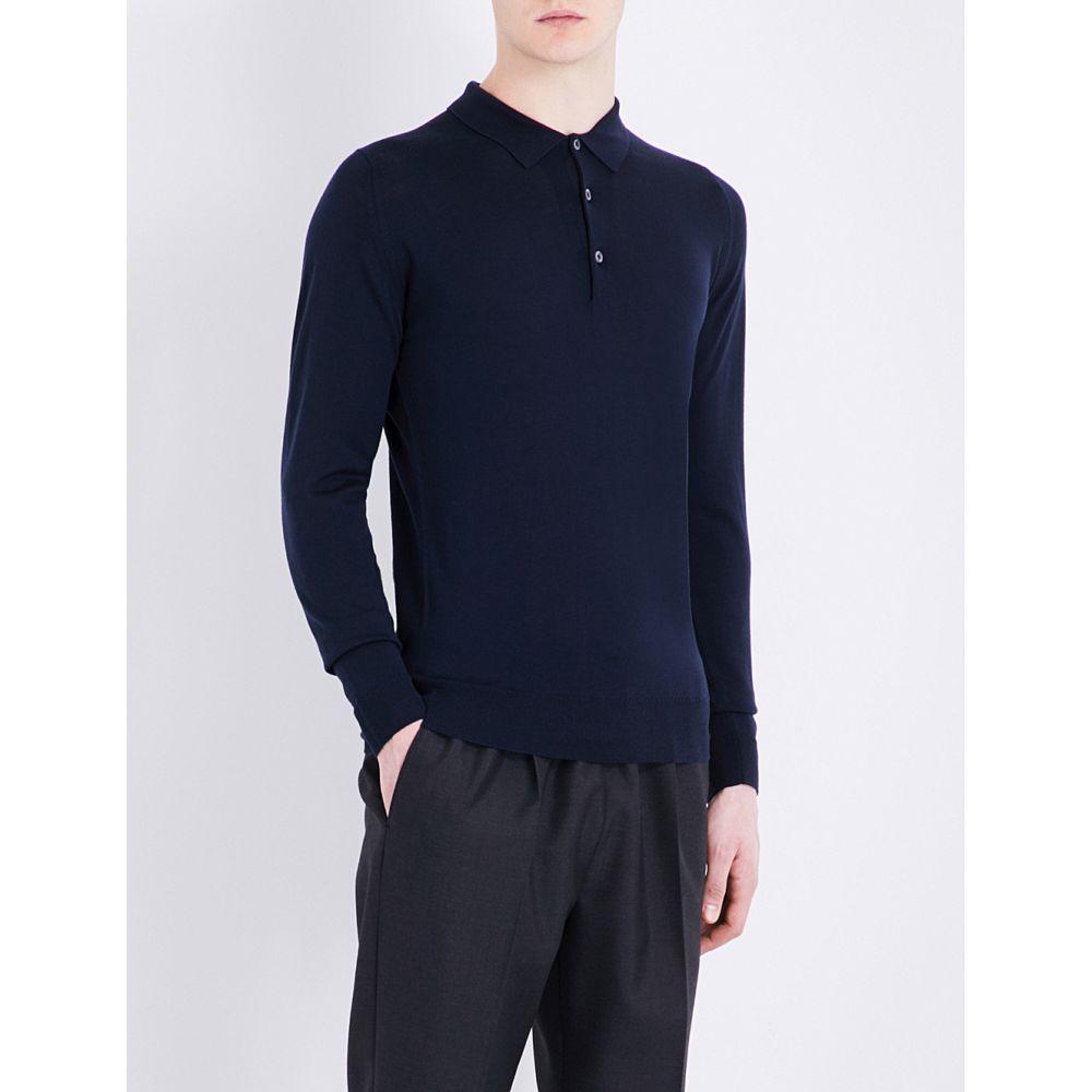 ジョンスメドレー JOHN SMEDLEY メンズ ポロシャツ トップス【Belper knitted polo jumper】Midnight