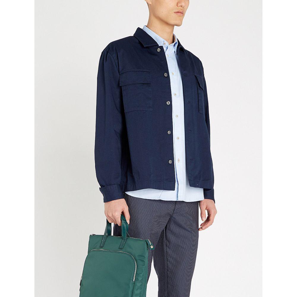 テッドベーカー TED BAKER メンズ 半袖シャツ トップス【Wallabi regular-fit cotton-pique shirt】Blue