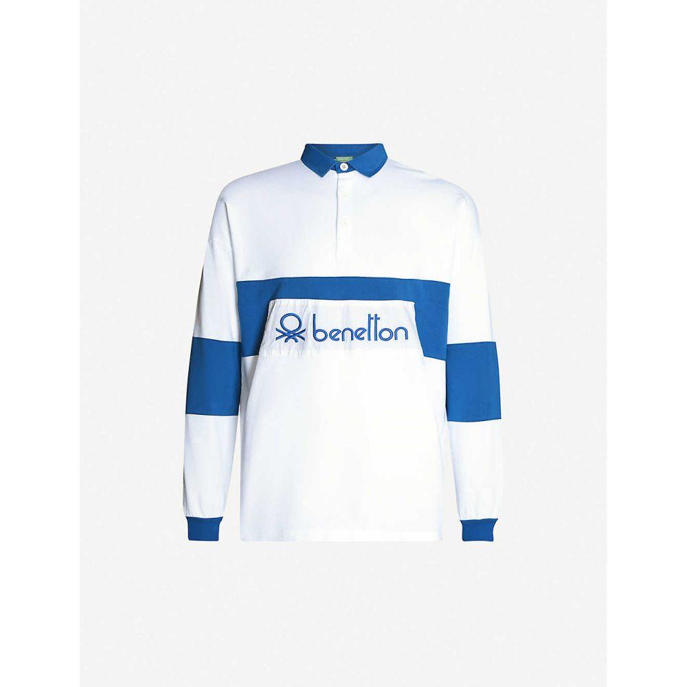 ベネトン BENETTON メンズ ポロシャツ トップス【Logo-embroidered cotton polo shirt】blue