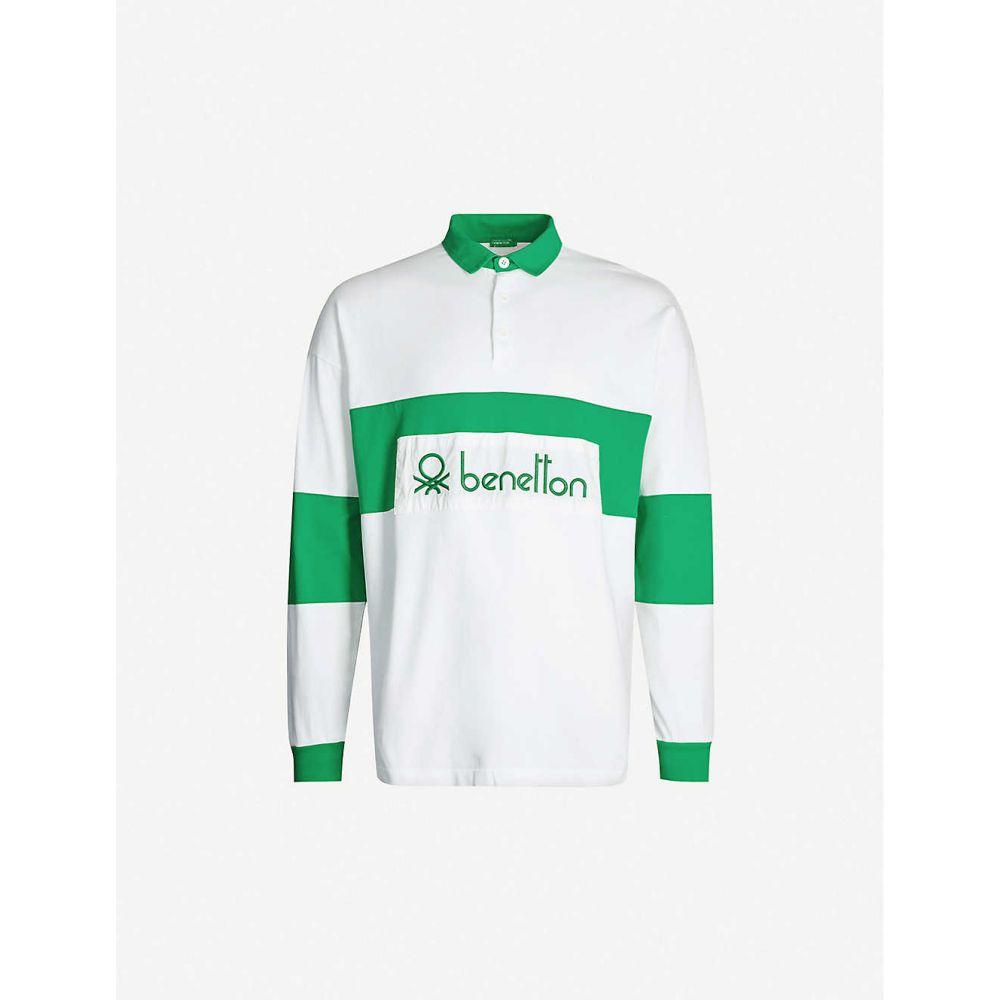 ベネトン BENETTON メンズ ポロシャツ トップス【Logo-embroidered cotton polo shirt】FANTASY