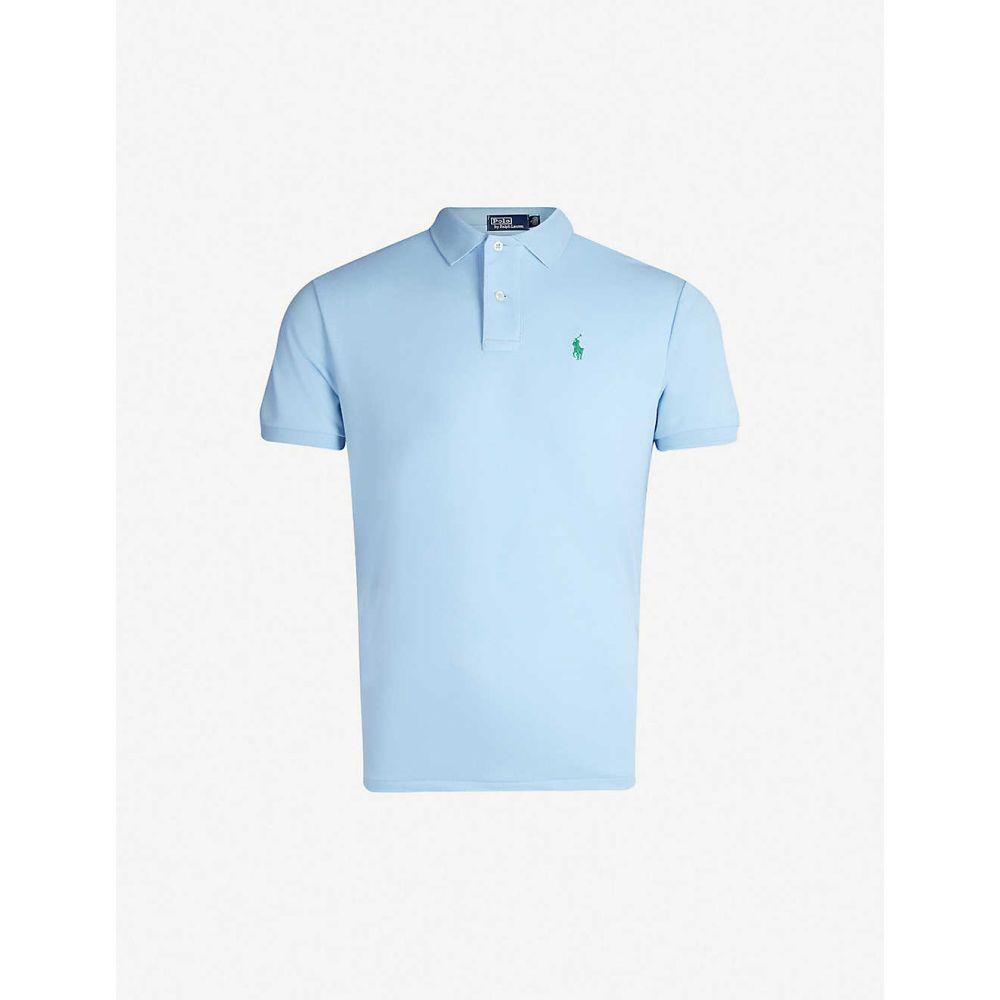 ラルフ ローレン POLO RALPH LAUREN メンズ ポロシャツ トップス【Slim-fit pique polo shirt】Blue