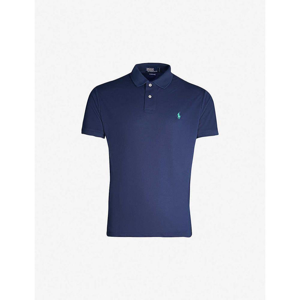 ラルフ ローレン POLO RALPH LAUREN メンズ ポロシャツ トップス【Earth Polo Logo-embroidered cotton-pique polo shirt】Navy