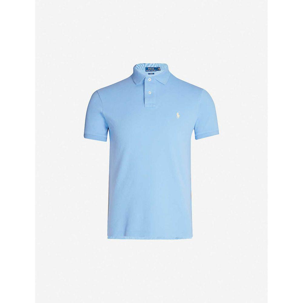 ラルフ ローレン POLO RALPH LAUREN メンズ ポロシャツ トップス【Logo-embroidered slim-fit cotton polo shirt】Cabana blue