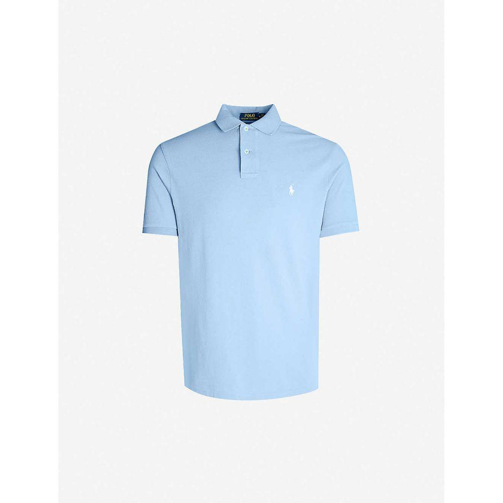 ラルフ ローレン POLO RALPH LAUREN メンズ ポロシャツ トップス【Logo-embroidered cotton-pique polo shirt】Cabana blue