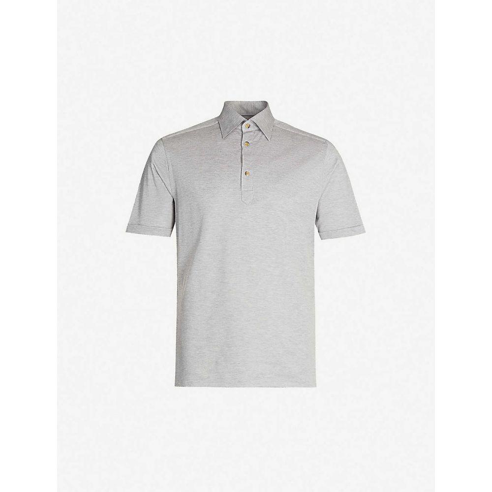 イートン ETON メンズ ポロシャツ トップス【Cotton polo shirt】Grey