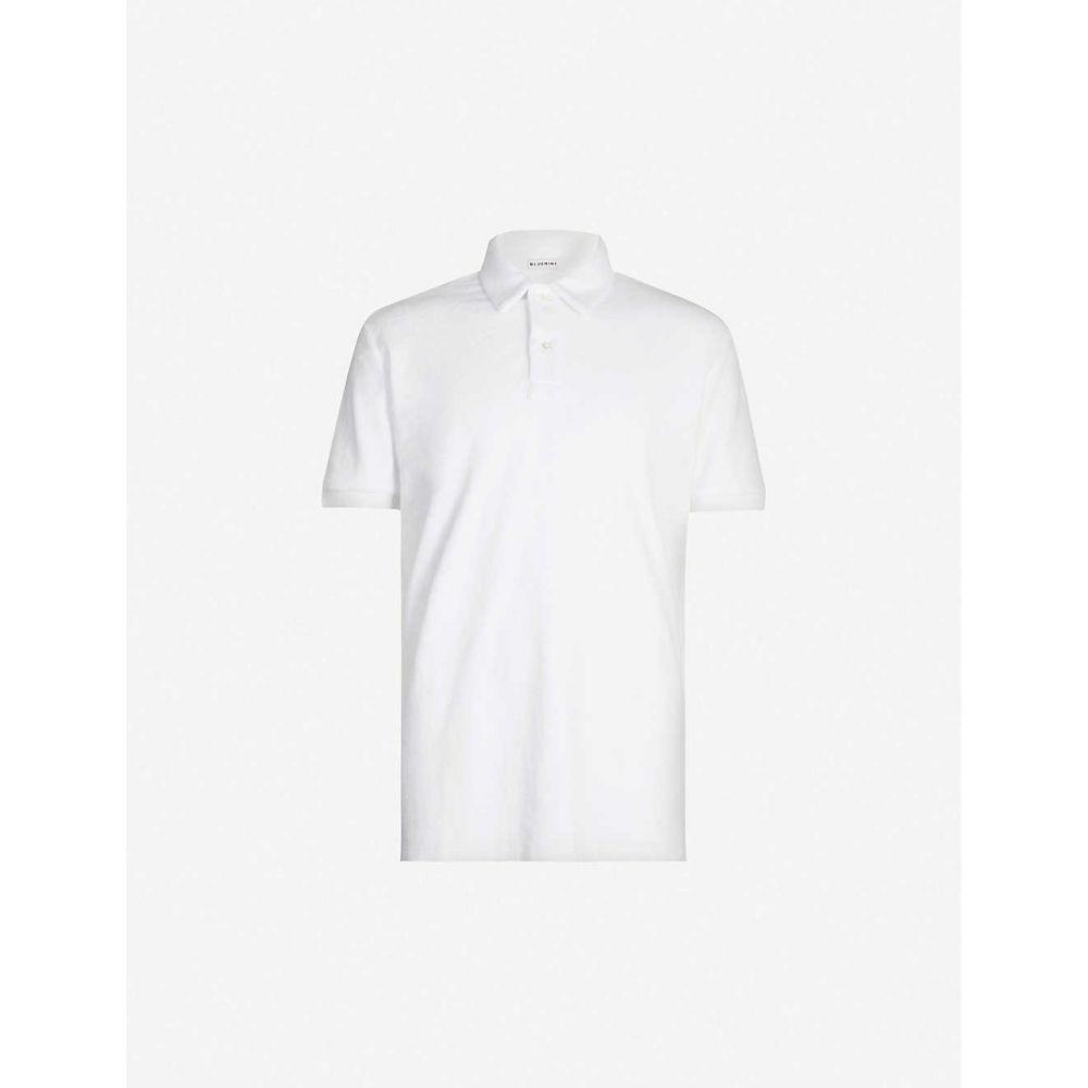 ブルーミント BLUEMINT メンズ ポロシャツ トップス【Yam cotton-towelling polo shirt】White