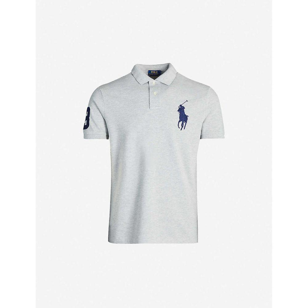 ラルフ ローレン POLO RALPH LAUREN メンズ ポロシャツ トップス【Logo-embroidered cotton-pique polo shirt】GREY HTR
