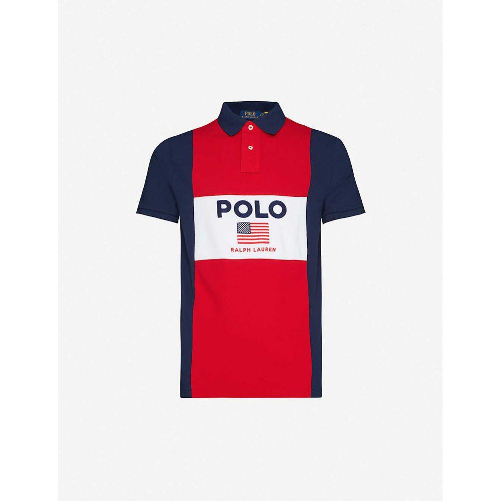 ラルフ ローレン POLO RALPH LAUREN メンズ ポロシャツ トップス【Logo-embroidered cotton-pique polo shirt】RED