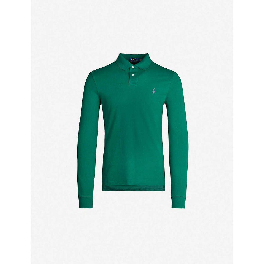 ラルフ ローレン POLO RALPH LAUREN メンズ ポロシャツ トップス【Logo-embroidered slim-fit cotton-pique polo top】GREEN