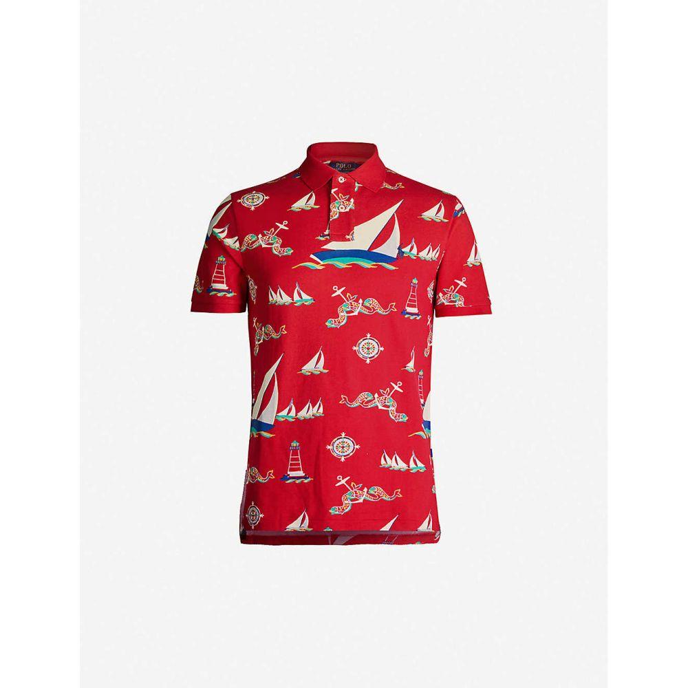 ラルフ ローレン POLO RALPH LAUREN メンズ ポロシャツ トップス【Graphic-print cotton-pique polo top】MULTI