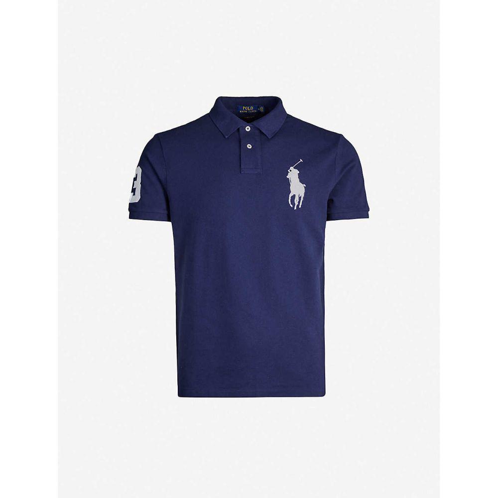 ラルフ ローレン POLO RALPH LAUREN メンズ ポロシャツ トップス【Logo-embroidered cotton-pique polo shirt】NAVY