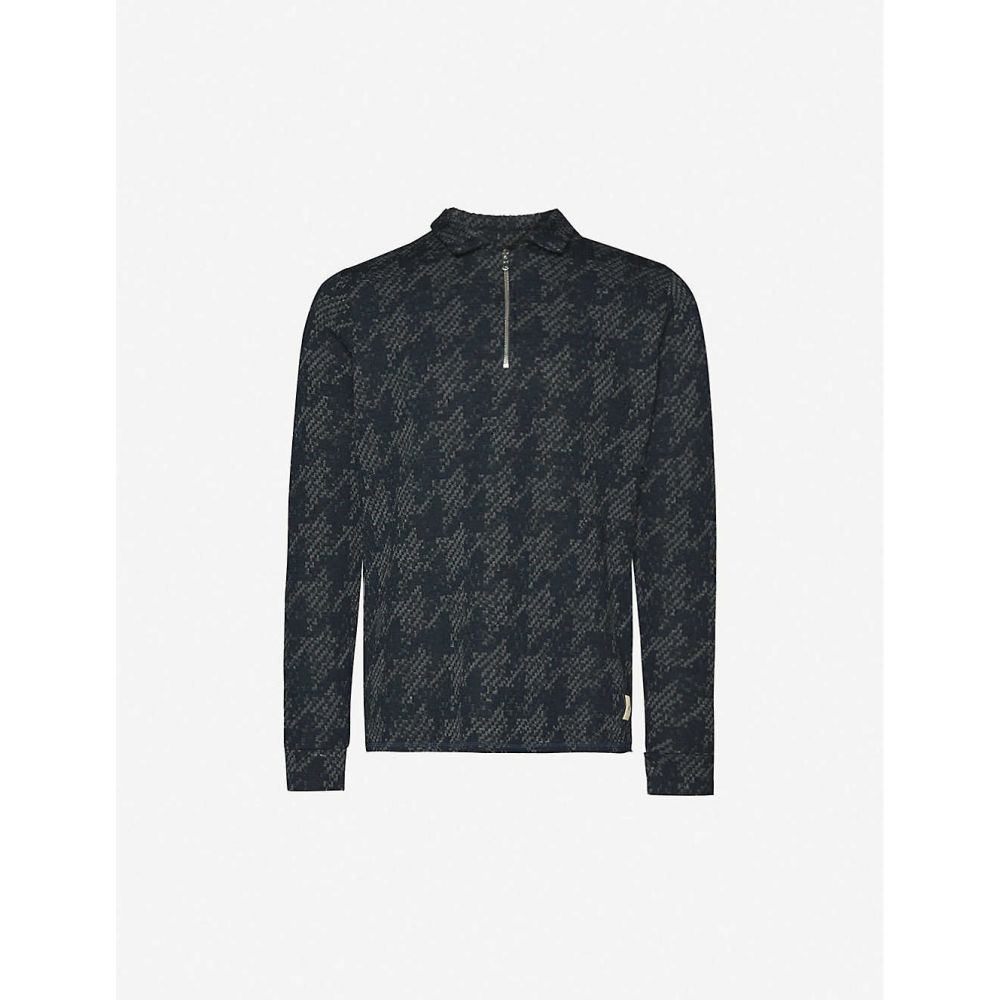 プレヴ PREVU メンズ ポロシャツ トップス【Graian woven polo shirt】Navy Grey