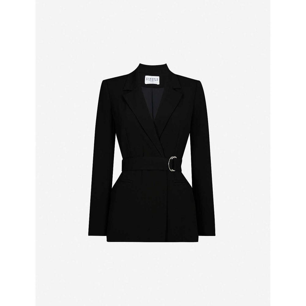 クローディ ピエルロ CLAUDIE PIERLOT レディース スーツ・ジャケット アウター【Buckled regular-fit crepe blazer】Black