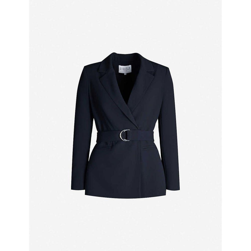 クローディ ピエルロ CLAUDIE PIERLOT レディース スーツ・ジャケット アウター【Buckled regular-fit crepe blazer】Navy