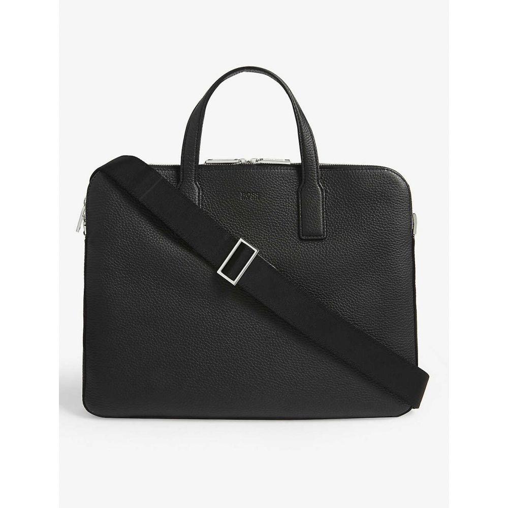 ヒューゴ ボス BOSS メンズ ビジネスバッグ・ブリーフケース バッグ【Crosstown Italian-leather double document case】BLACK