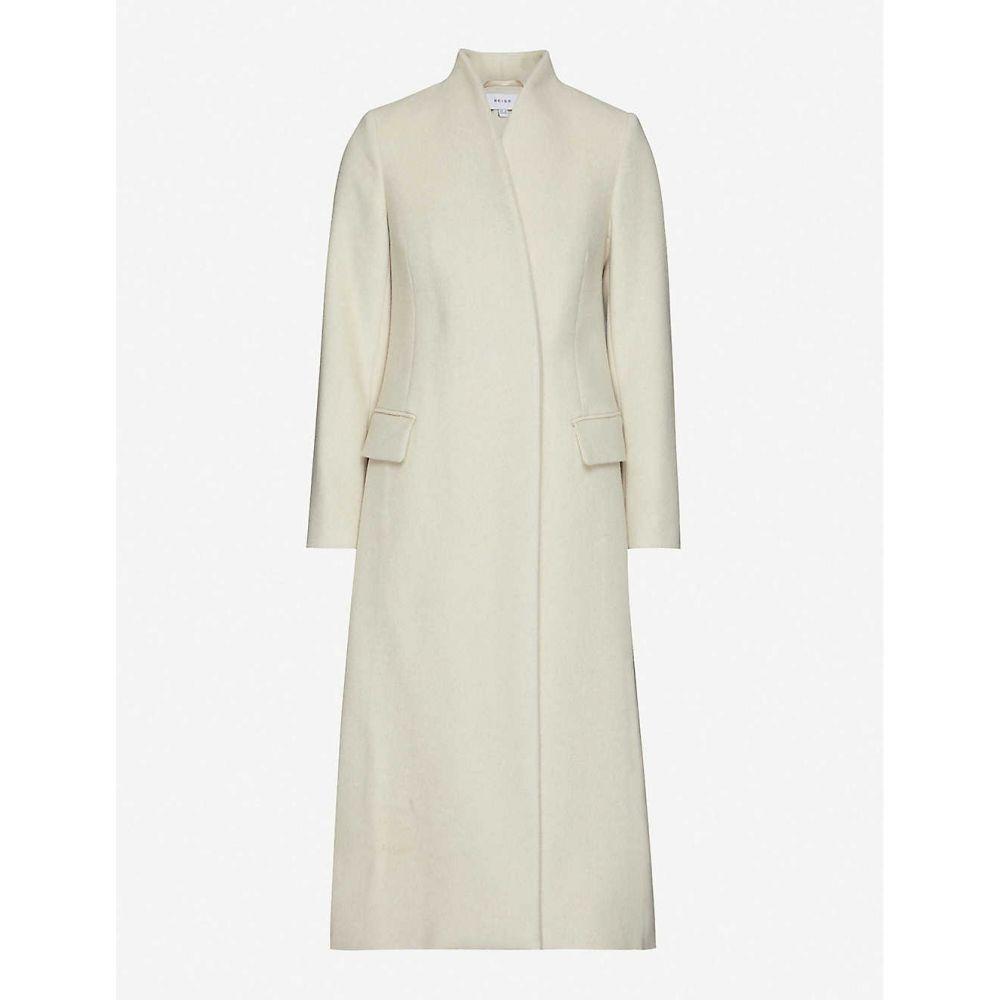 リース REISS レディース コート アウター【Willow high-neck wool-blend coat】CREAM