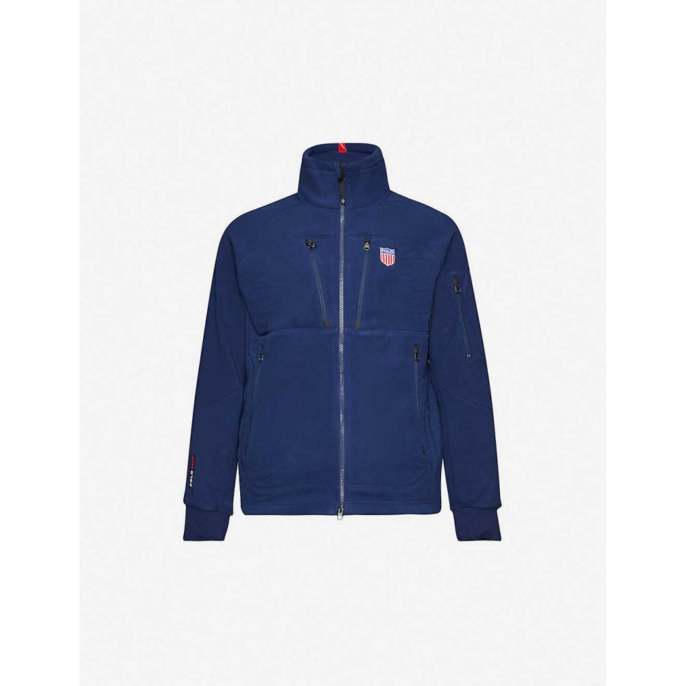 ラルフ ローレン POLO RALPH LAUREN メンズ フリース トップス【Logo-patch fleece jacket】NAVY
