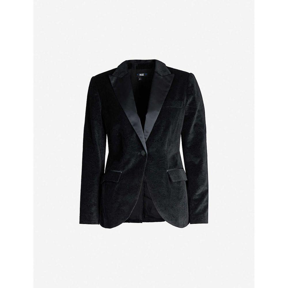 ペイジ PAIGE レディース スーツ・ジャケット アウター【Avionne velvet jacquard blazer】BLACK
