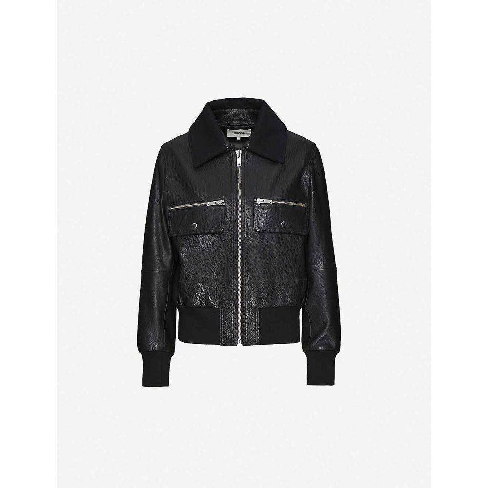 バッシュ BA&SH レディース レザージャケット アウター【Astor leather jacket】BLACK