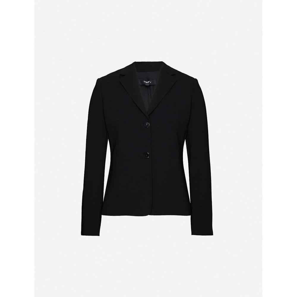 セオリー THEORY レディース スーツ・ジャケット アウター【Single-breasted woven blazer】BLACK