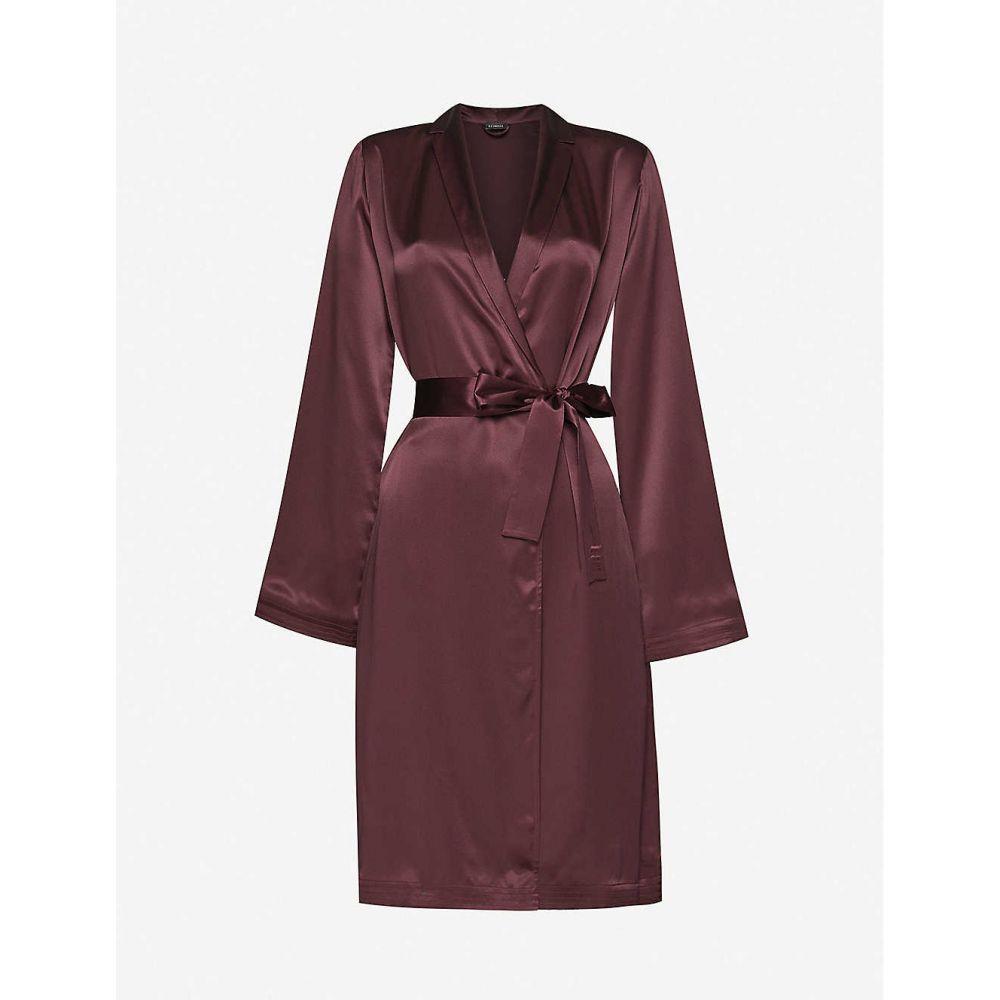 ラ ペルラ LA PERLA レディース ガウン・バスローブ インナー・下着【Notch-lapel silk dressing gown】BURGUNDY