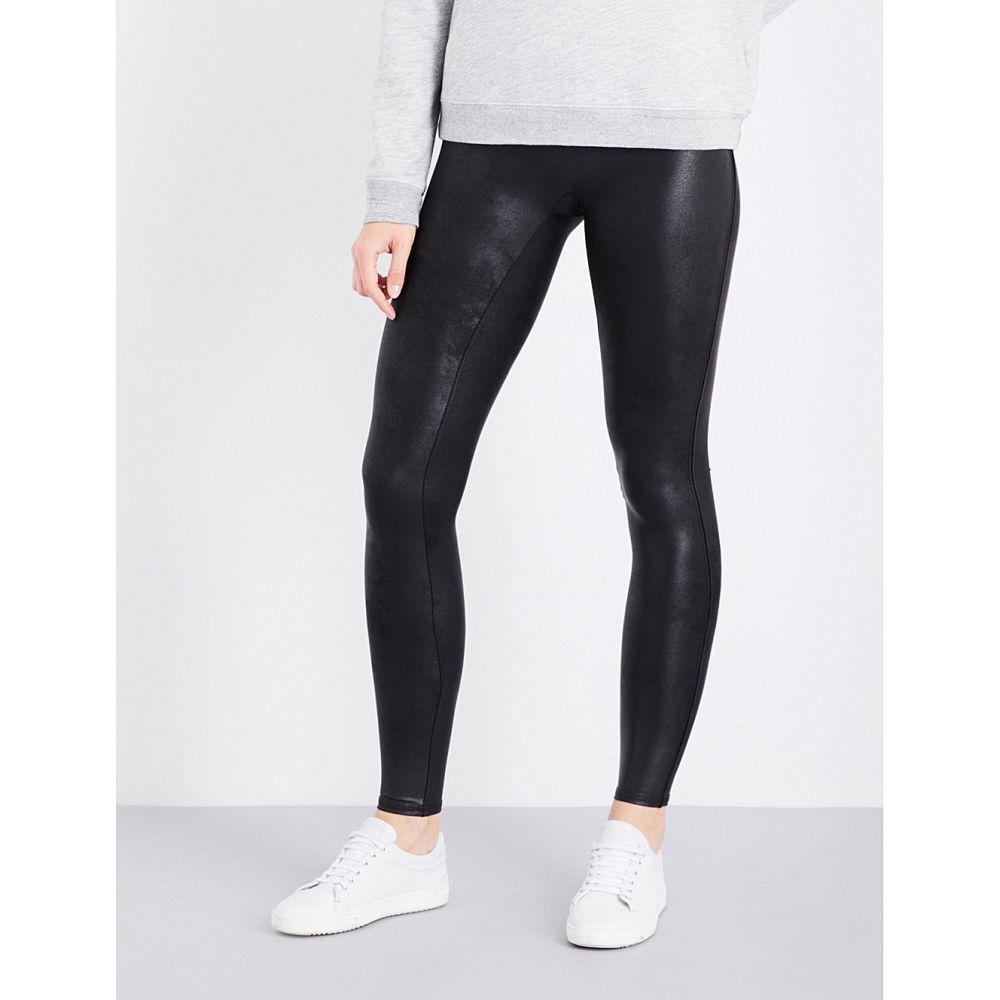 スパンクス SPANX レディース ボトムス・パンツ 【High-rise faux-leather leggings】Black