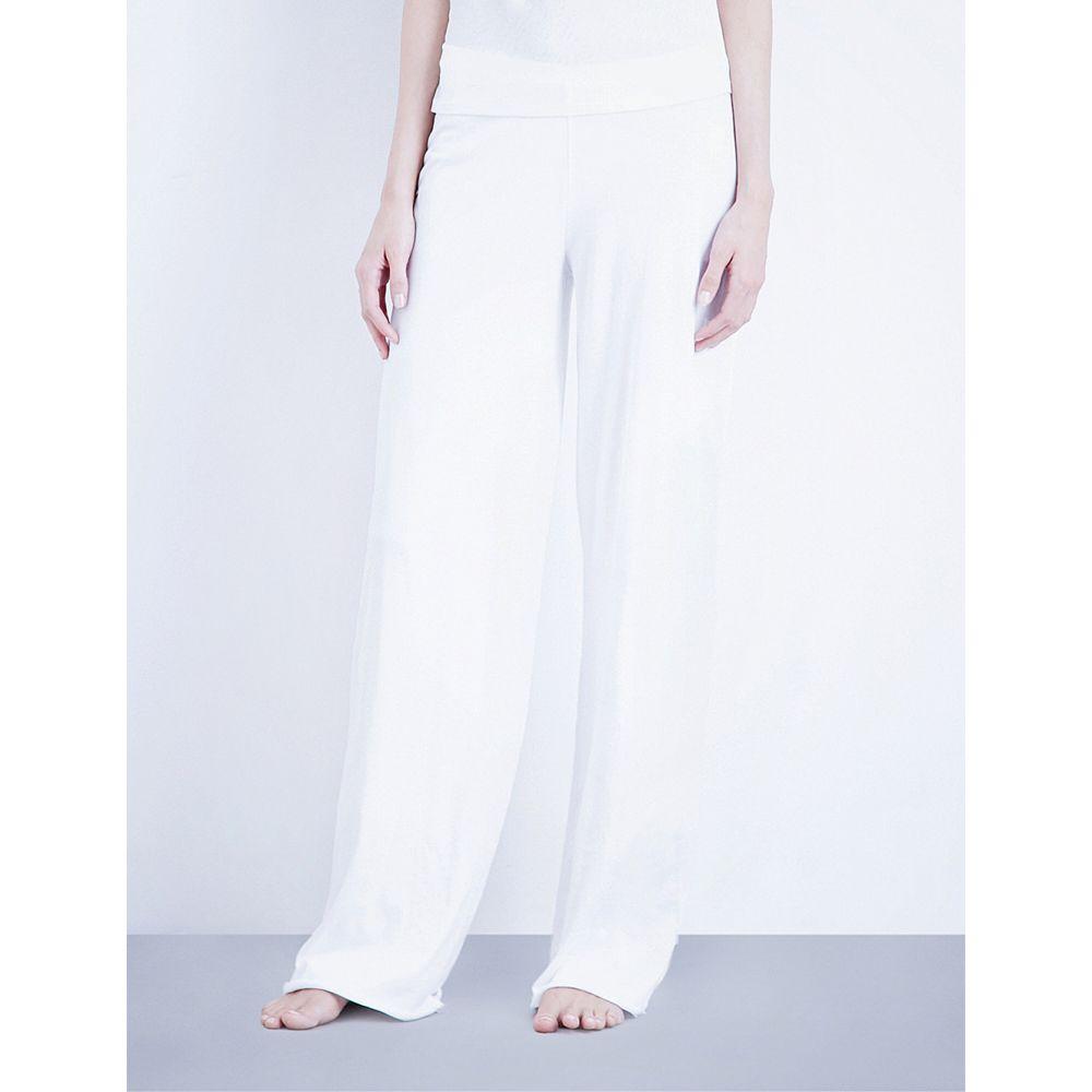 スキン SKIN レディース パジャマ・ボトムのみ インナー・下着【Double-layer pima-cotton jersey pyjama bottoms】White
