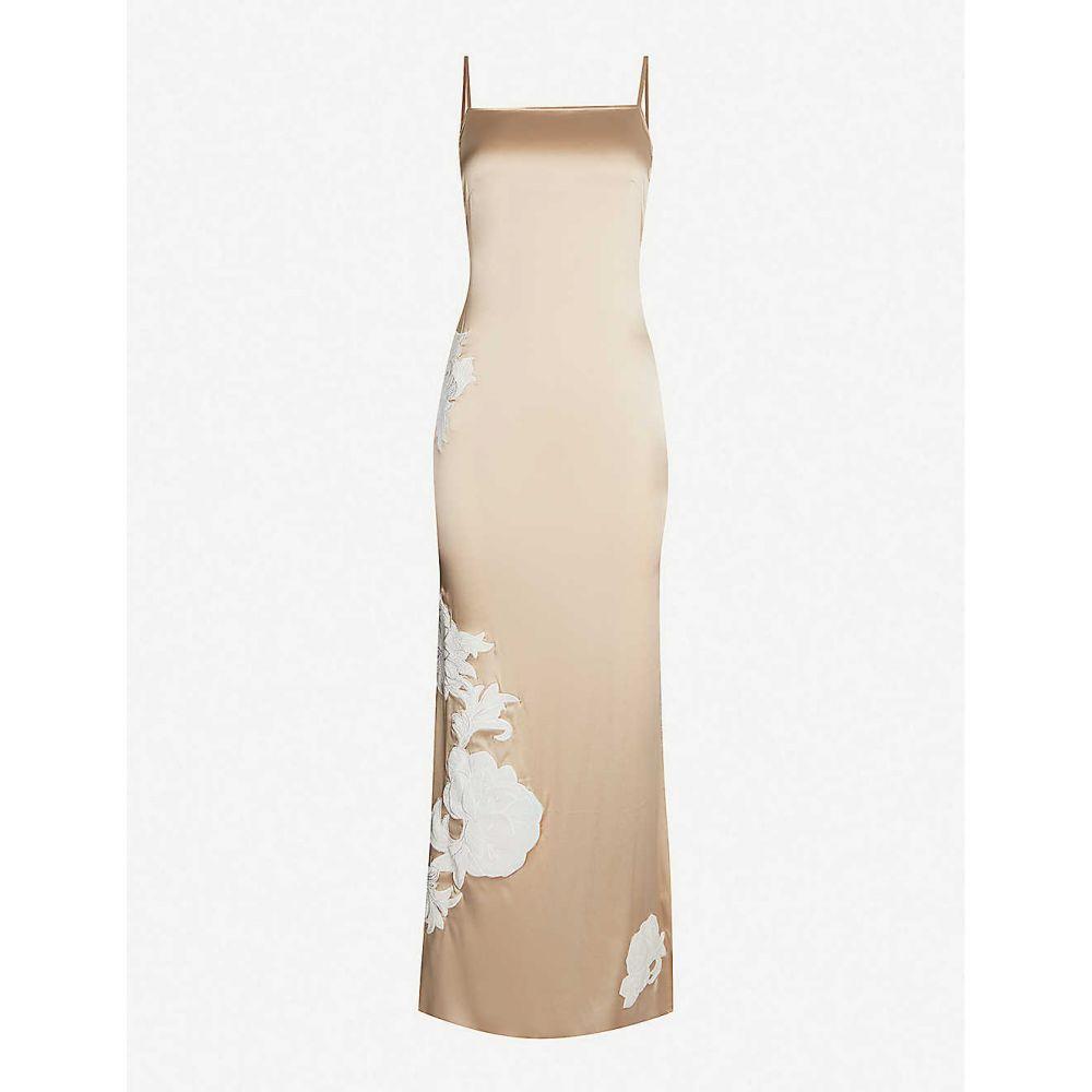マイラ MYLA レディース パジャマ・トップのみ インナー・下着【Primrose Hill floral-embroidered stretch silk-satin night dress】Mink