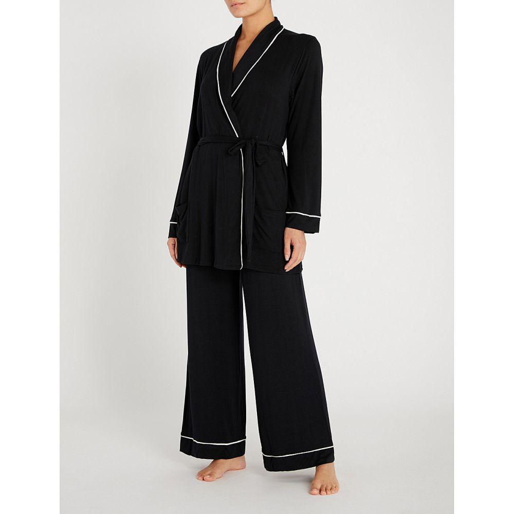 エバージェイ EBERJEY レディース パジャマ・上下セット インナー・下着【Gisele Nightcap stretch-modal pyjama set】BLACK IVORY