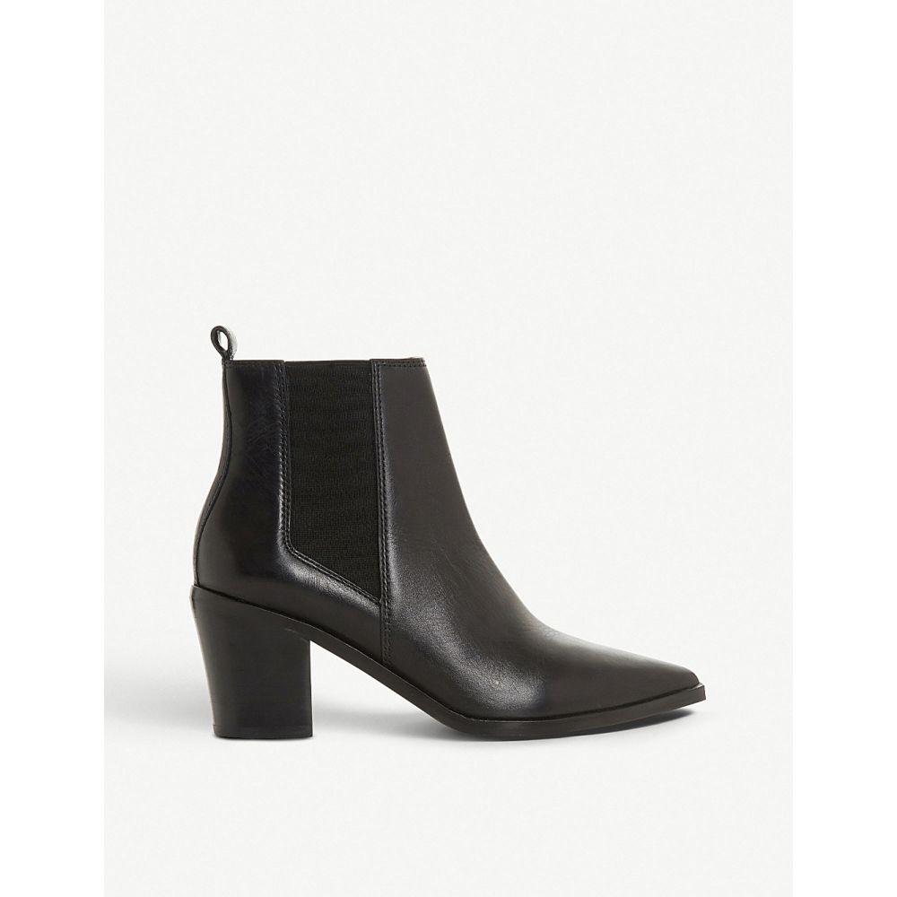 デューン DUNE レディース ブーツ チェルシーブーツ シューズ・靴【Permit pointed-toe leather chelsea boots】BLACK-LEATHER