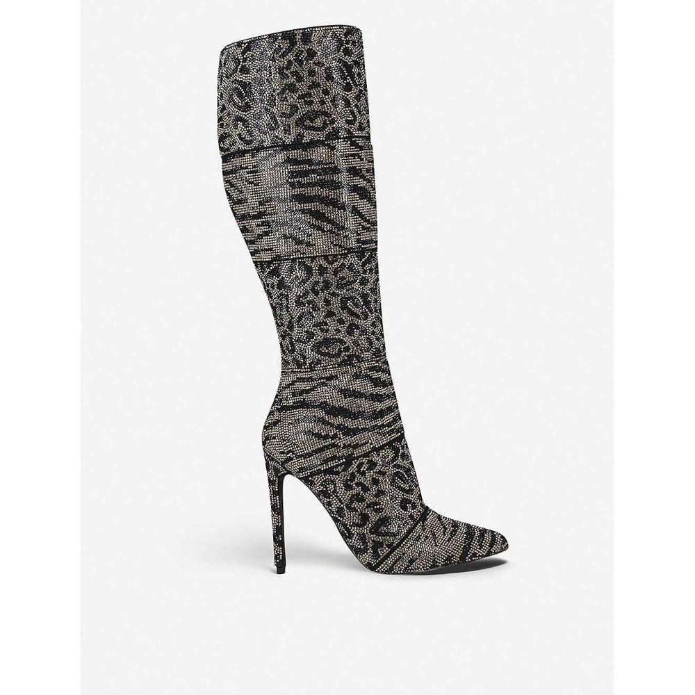 スティーブ マデン STEVE MADDEN レディース ブーツ シューズ・靴【Winner animal-print leather knee-high boots】BROWN/OTH