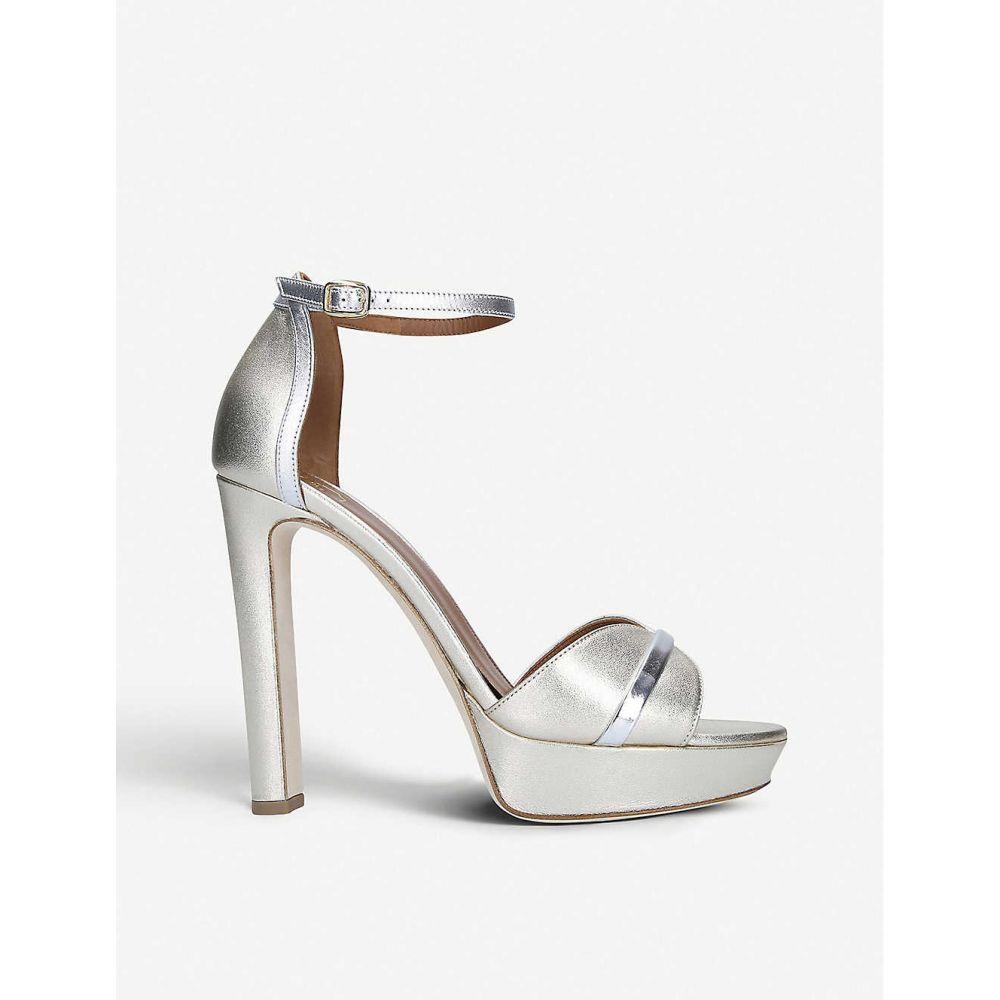 マローンスリアーズ MALONE SOULIERS レディース サンダル・ミュール シューズ・靴【Miranda 125 metallic leather heeled sandals】METAL COMB