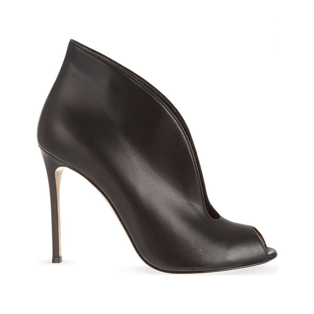 ジャンヴィト ロッシ GIANVITO ROSSI レディース ブーツ ショートブーツ シューズ・靴【Vamp 105 leather heeled ankle boots】Black