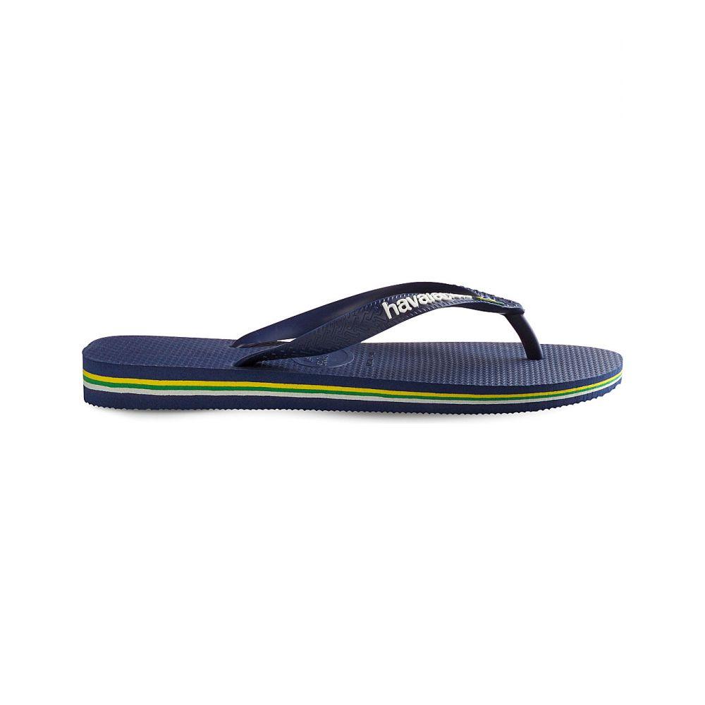 ハワイアナス HAVAIANAS レディース ビーチサンダル シューズ・靴【Brazil logo rubber flip-flops】NAVY BLUE