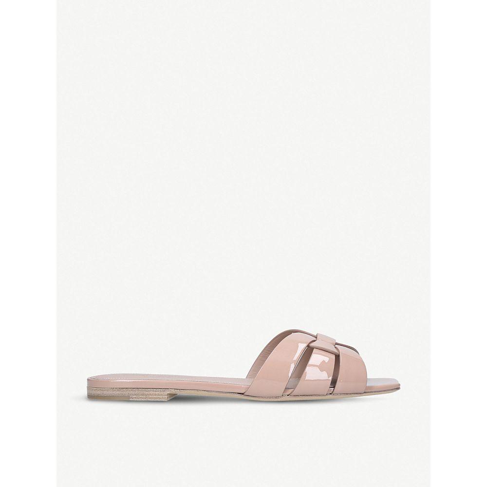 イヴ サンローラン SAINT LAURENT レディース サンダル・ミュール シューズ・靴【Nu Pieds 05 patent-leather sandals】NUDE