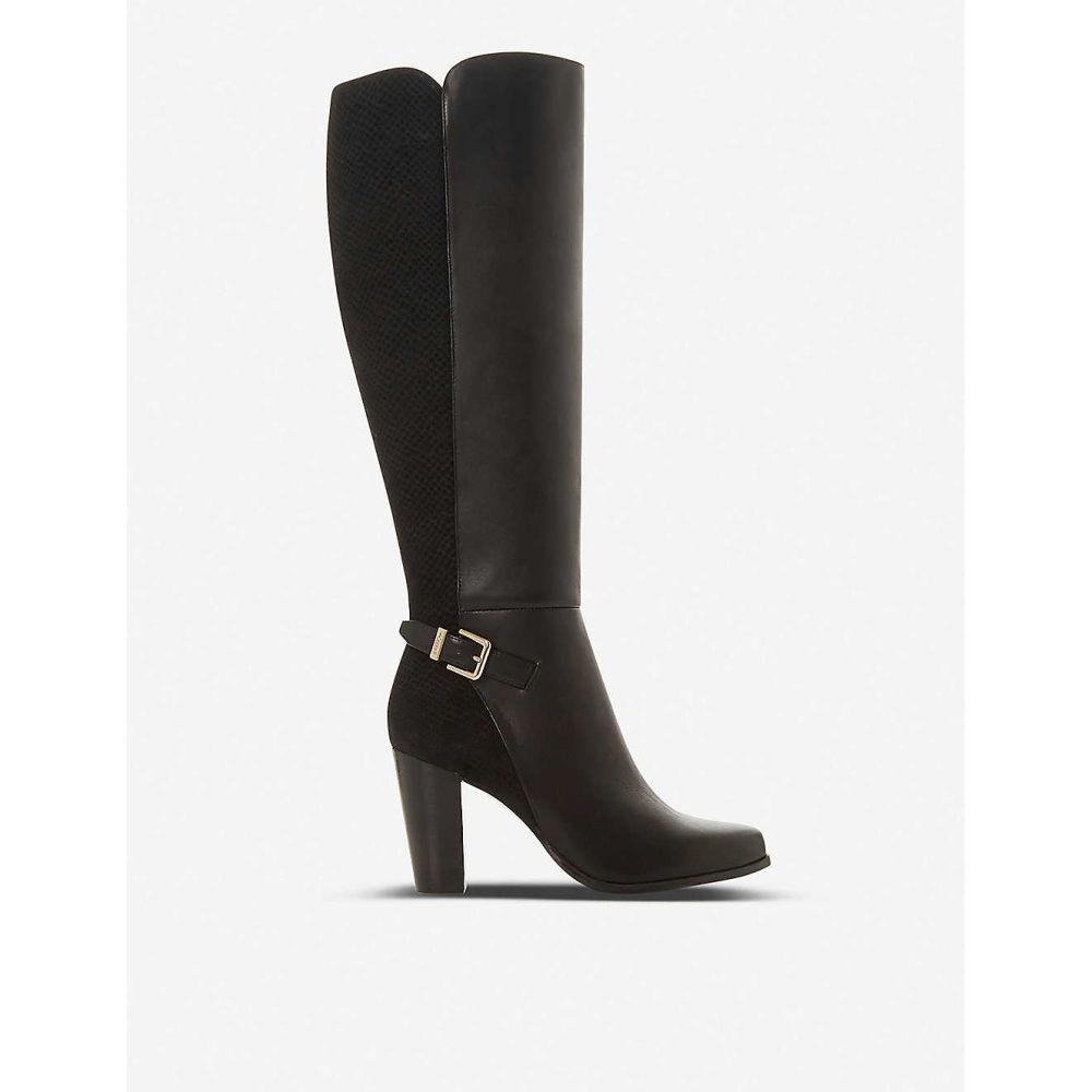 デューン DUNE レディース ブーツ シューズ・靴【Samuella leather knee-high boots】BLACK-LEATHER