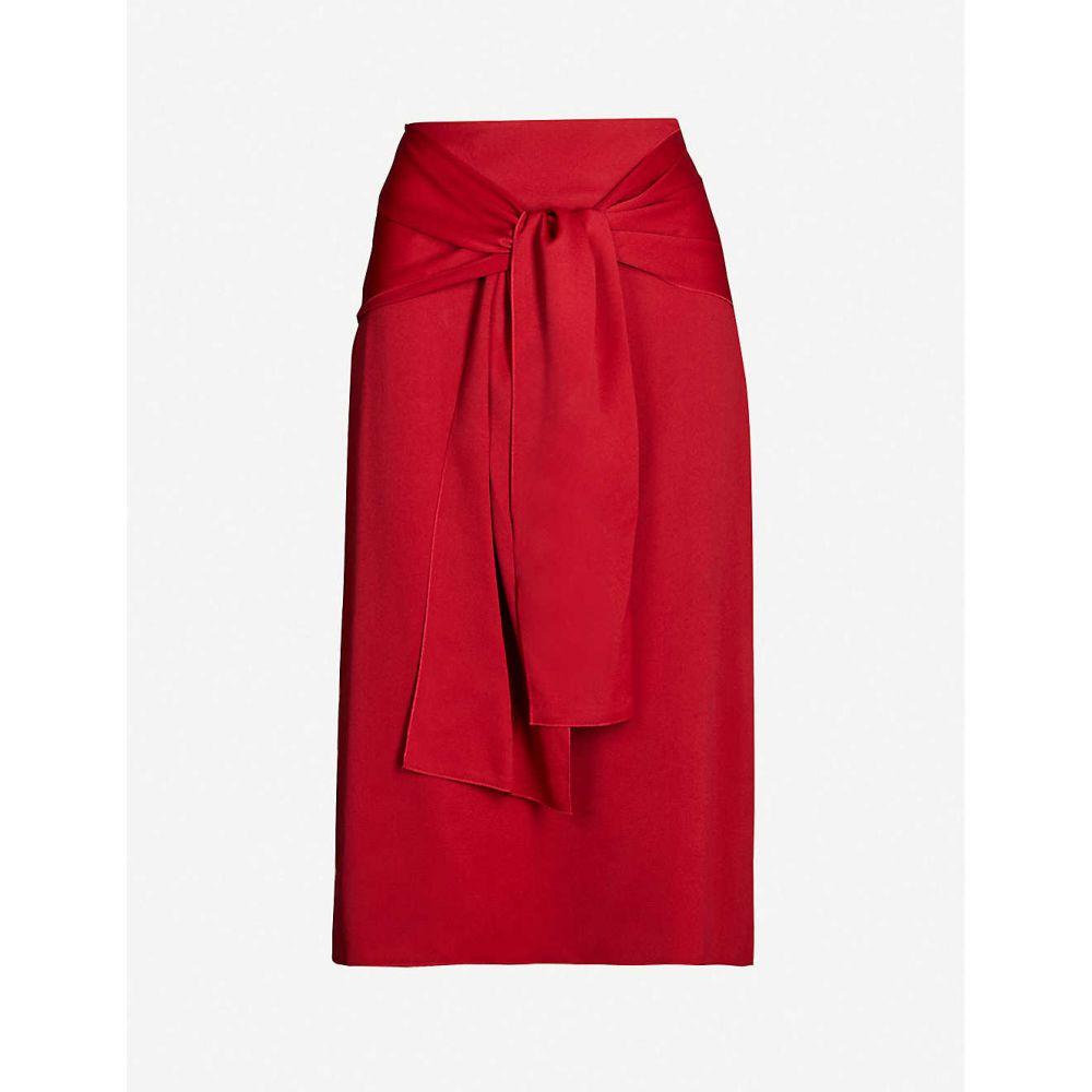 ジョゼフ JOSEPH レディース ひざ丈スカート スカート【Renne high-rise relaxed-fit crepe midi skirt】Ruby
