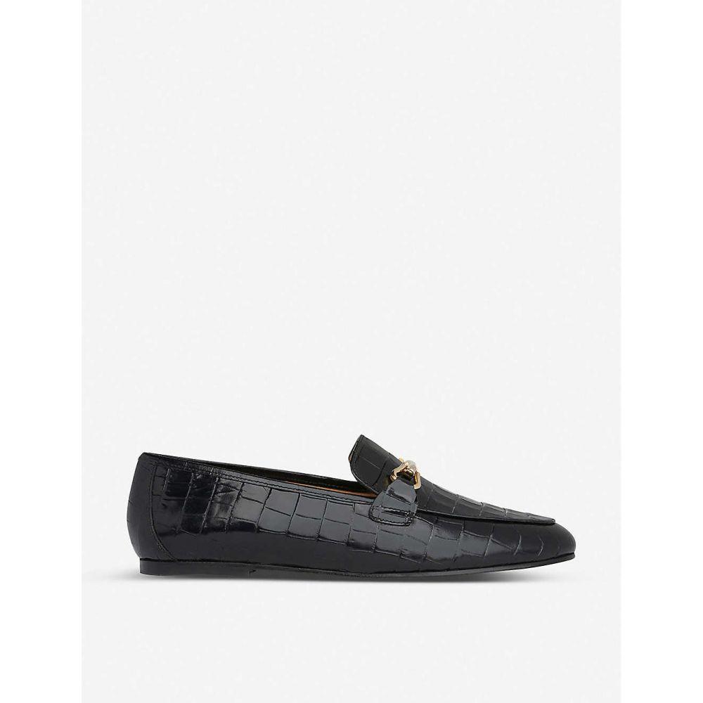 エルケーベネット LK BENNETT レディース ローファー・オックスフォード シューズ・靴【Marina croc-embossed leather loafers】BLA-BLACK