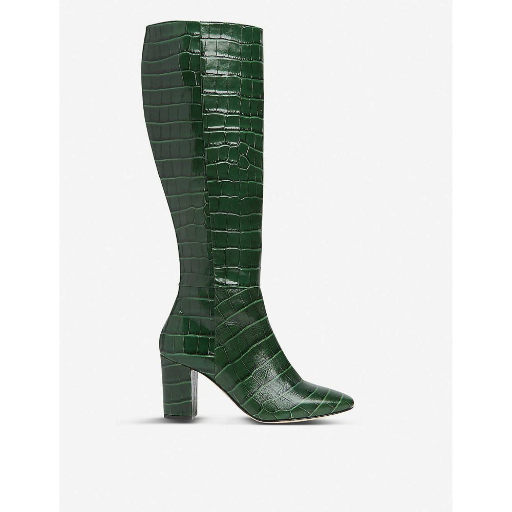 エルケーベネット LK BENNETT レディース ブーツ ショートブーツ シューズ・靴【Sirena crocodile-embossed leather ankle boots】GRE-FOREST