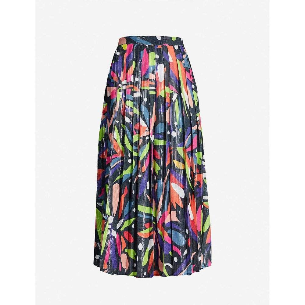 オリビアルービン OLIVIA RUBIN レディース ひざ丈スカート スカート【Esme abstract-print sequinned midi skirt】Abstract Floral